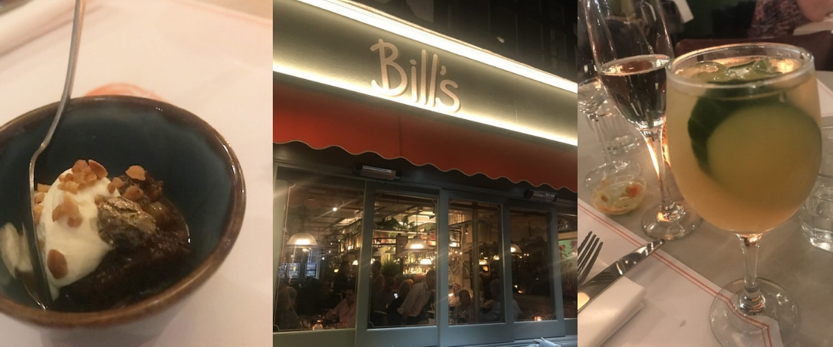 Delightful dining at Bill's in Reigate