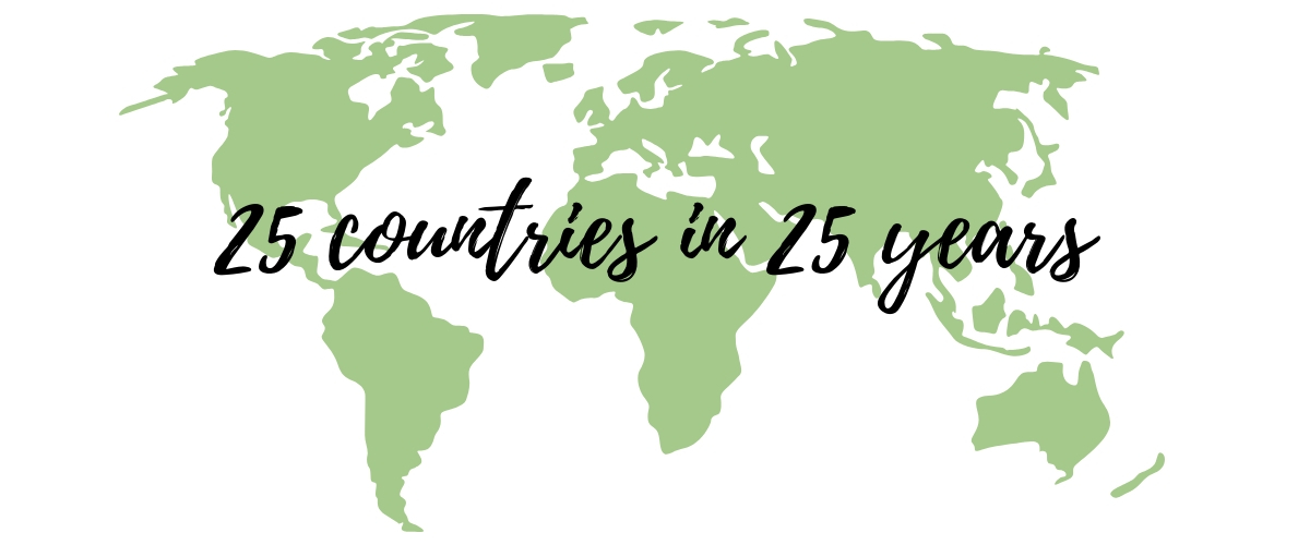 25 countries in 25 years